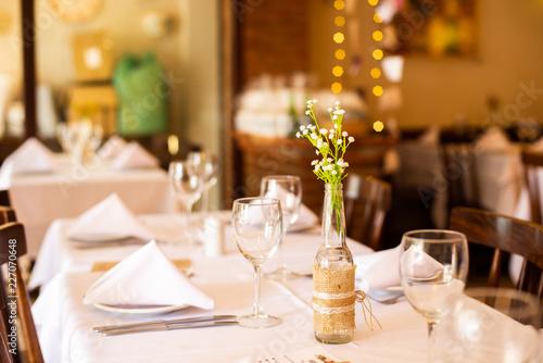 Fotografie, Obraz  mesa de restaurante decorada