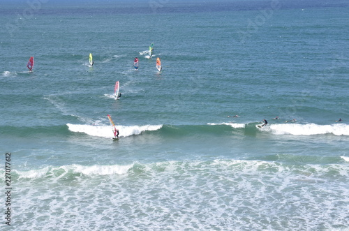 Surf and Windsurf, Bretagne, France