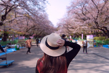 Woman Is Traveling Inside Ueno...