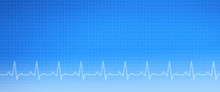 EKG Medical Graph Background