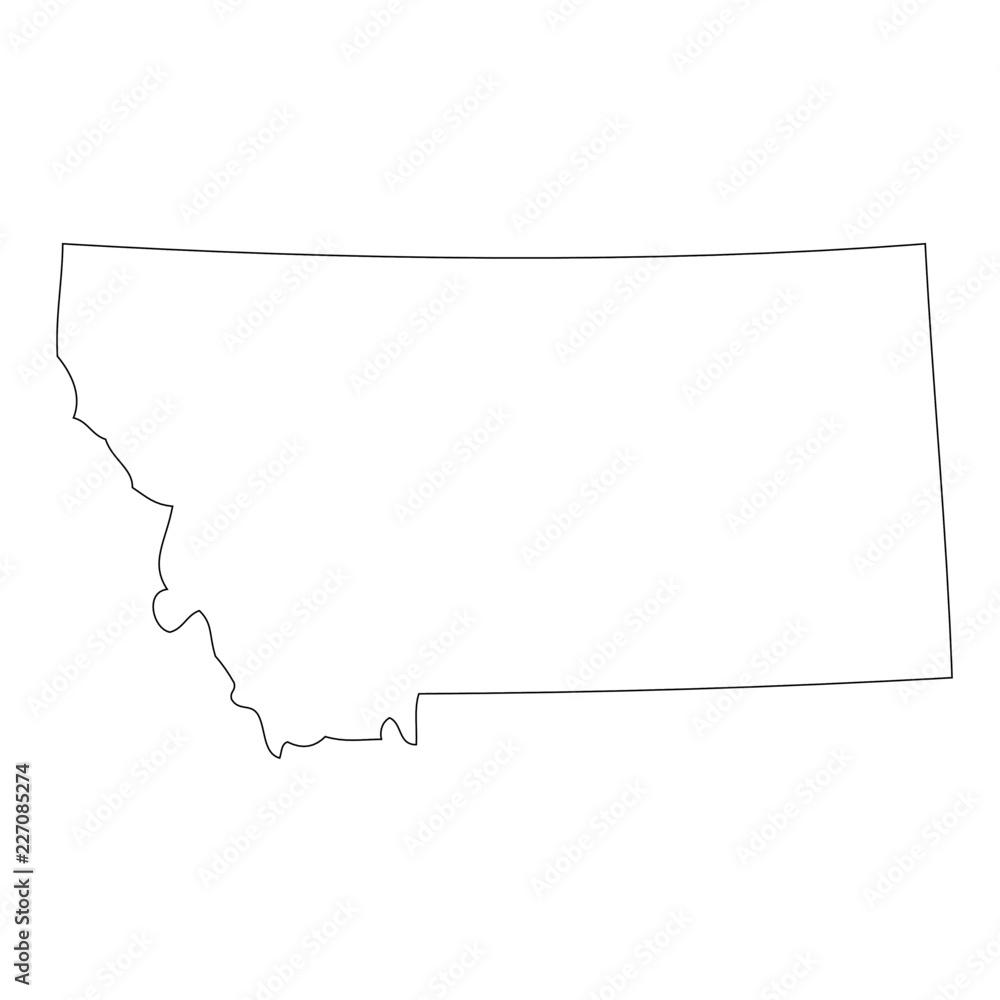 Fototapety, obrazy: Montana - map state of USA