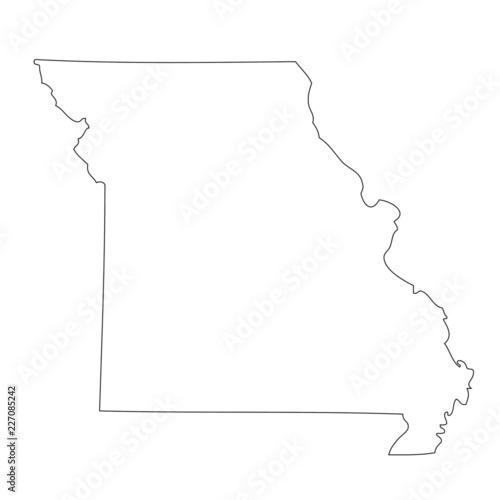 Missouri - map state of USA Wall mural