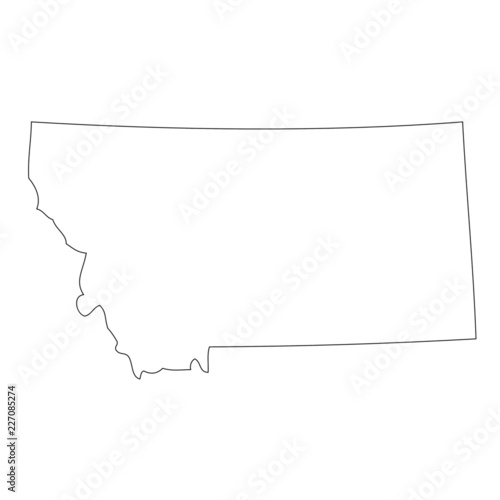 Montana - map state of USA
