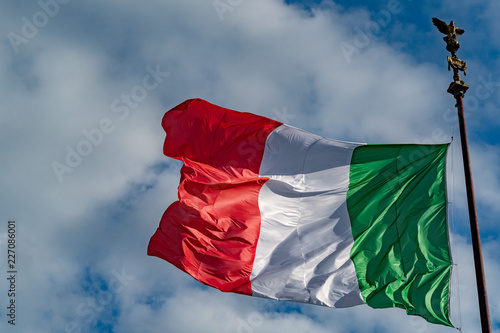 Spoed Foto op Canvas Canada Italian flag of Italy green white and red
