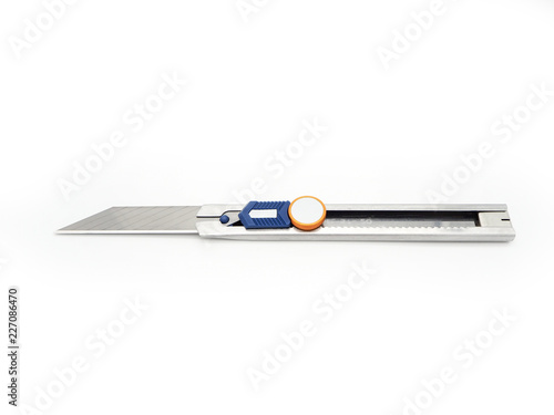 Fotografie, Obraz  Stainless cutter knife isolated on white background.