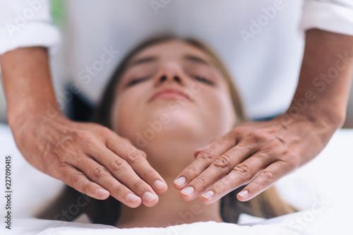 Reiki Throat Chakra Healing Treatment Canvas Print