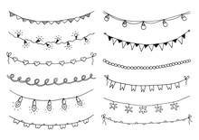 Set Of Hand Drawn Sketch Garla...