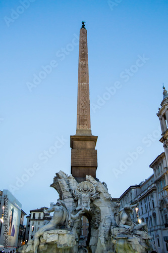 Fotomural Obelisk in Rome with sunset