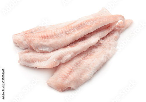 Frozen cod fillets Fototapet