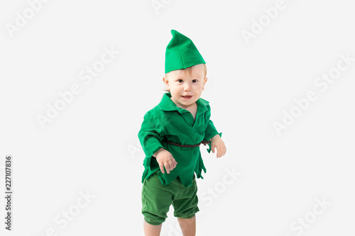 Photo  Toddler dressed up in Halloween Costume