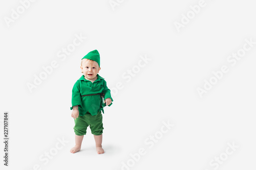 Toddler dressed up in Halloween Costume Canvas Print