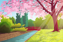 Scenery Of Japanese Park With ...