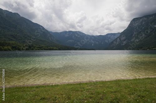 scenic beautiful lake bohinj in summertime, slovenia