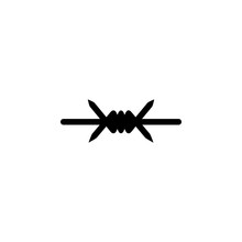 Barbed Wire Icon. Element Of War And Piece. Premium Quality Graphic Design Icon. Signs And Symbols Collection Icon For Websites, Web Design, Mobile App