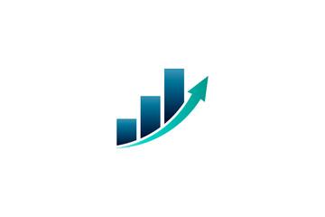 Business Finance Bar Profit Vector illustration