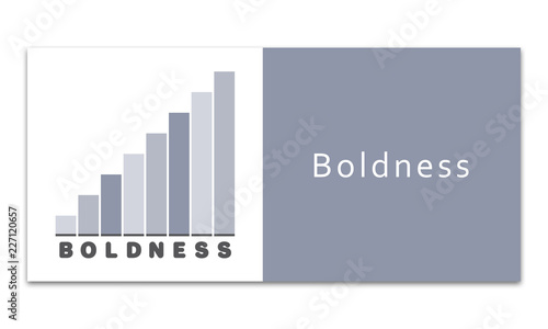 Boldness - Increasing graph on white background Canvas Print