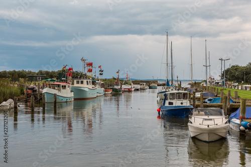 Plakat Cutter połowów w porcie na Morzu Bałtyckim w Lippe
