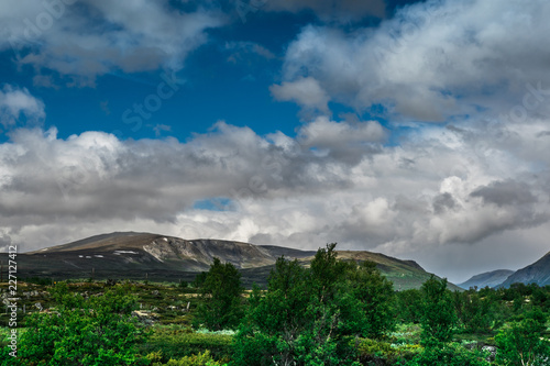 Foto op Plexiglas Grijs A beautiful landscape with mountains