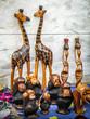 canvas print picture - Afrikanische Holzfiguren aus Boa Vista, Kapverden