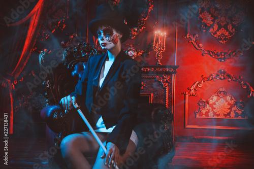 Spoed Fotobehang Halloween portrait of calavera catrina