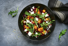 Pumpkin Salad With Beetroot, A...