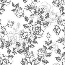 Vintage Flowers Roses. Seamles...