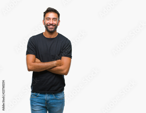Photo  Adult hispanic man over isolated background happy face smiling with crossed arms looking at the camera