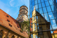 Stiftskirche With Reflections ...