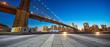 empty street with bridge in new york