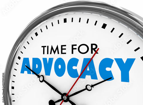 Photo Time for Advocacy Support Defense Clock 3d Illustration