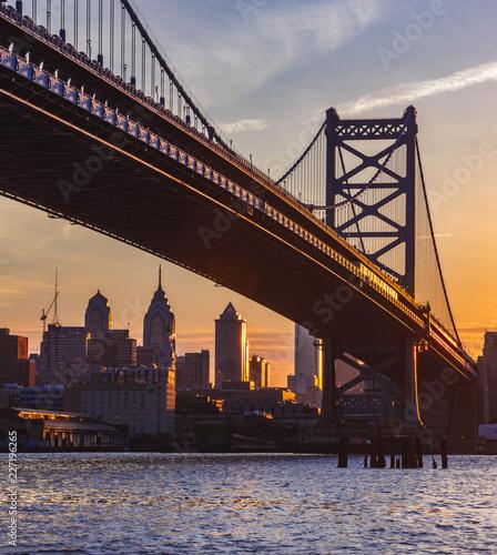 Foto op Plexiglas Panoramafoto s Ben Franklin Bridge