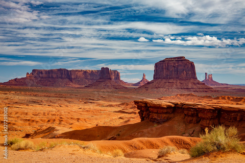 An early morning view of the iconic movie location, John Ford Point, Monument Valley, Arizona.