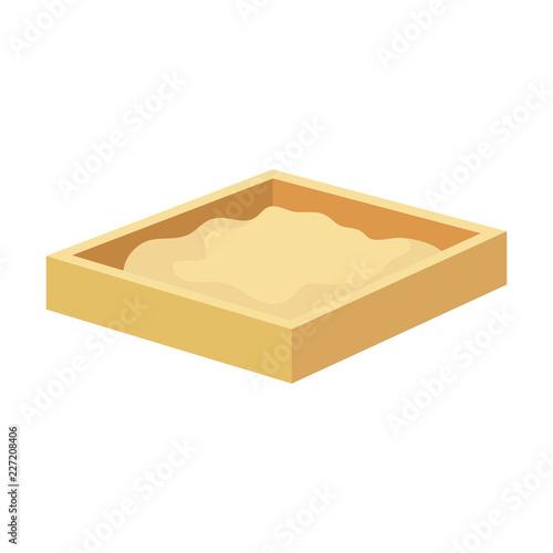Fototapeta sand box game icon