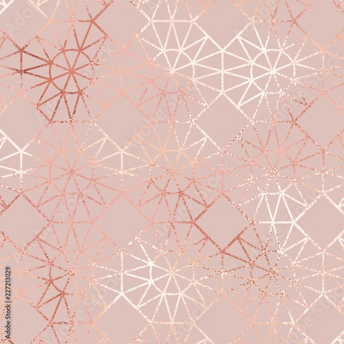 Fototapeta Rose gold. Elegant geometric pattern