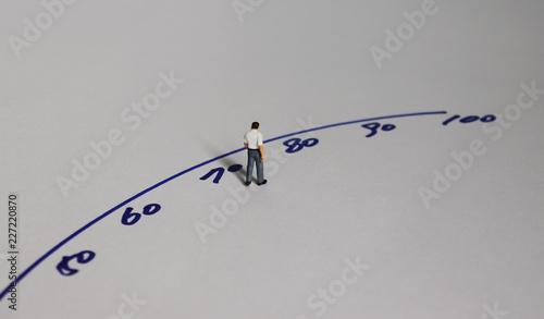 canvas print motiv - Hyejin Kang : An old miniature man. Concepts for average life extension.