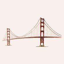 The Golden Gate Bridge Painted...