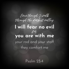 Bible Verse From Psalm 23, I W...