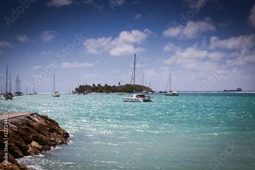 In de dag Centraal-Amerika Landen carribean beach in La Datcha, Grande-Terre, Guadeloupe