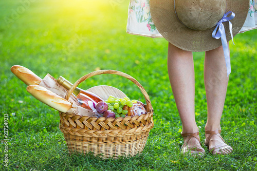 Picnic on the lawn in the park