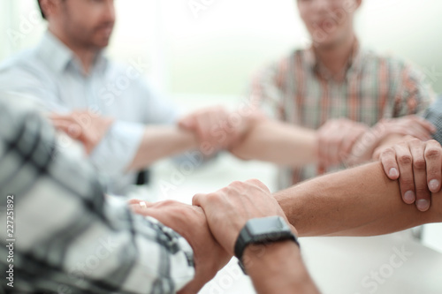 Fototapety, obrazy: background image.business team standing in a circle