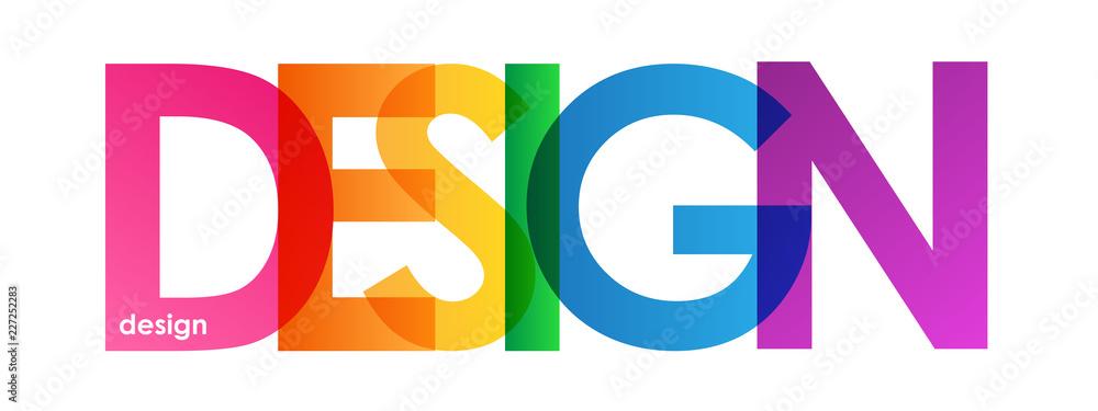 Fototapety, obrazy: DESIGN rainbow letters banner