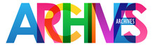 ARCHIVES Colorful Letters Banner