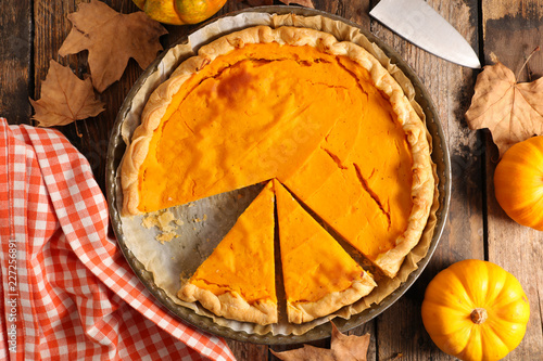 homemade pumpkin pie Canvas Print