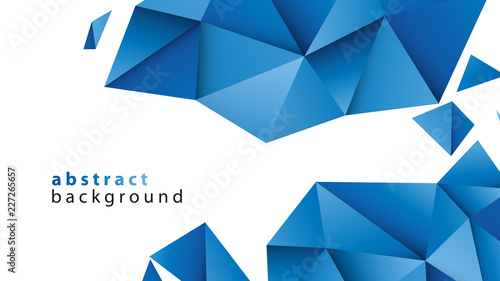niebieskie trójkąty tło wektor - fototapety na wymiar
