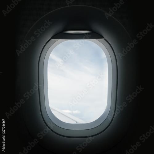 Carta da parati Looking Through An Airplane Window Porthole