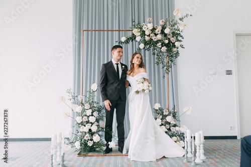 Obraz na płótnie Stylish European wedding ceremony