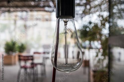 Photographie Glühbirne Cafe frankreich Marsanne lampe retro