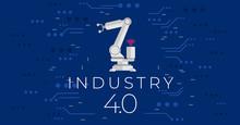 Industry 4.0 Concept Vector Illustration. Fourth Industrial Revolution.