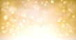 canvas print picture - golden shimmering and sparkling christmas background