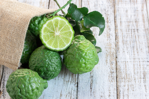 Cross section bergamot or bergamot slice
